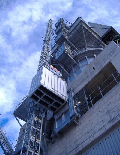 Zastosowanie wind i platform w cementowniach